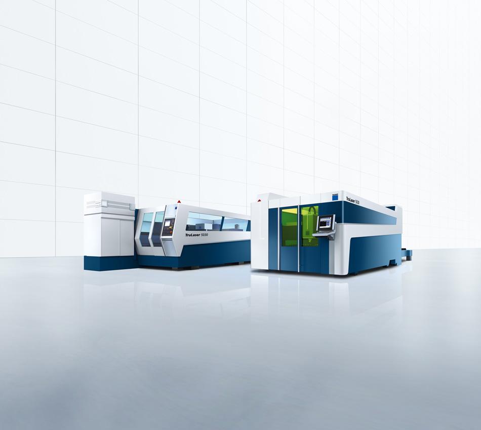 Zwei Laserschneidanlagen der Firma Trumpf - 5000er-Serie und 3000er-Serie im Vergleich