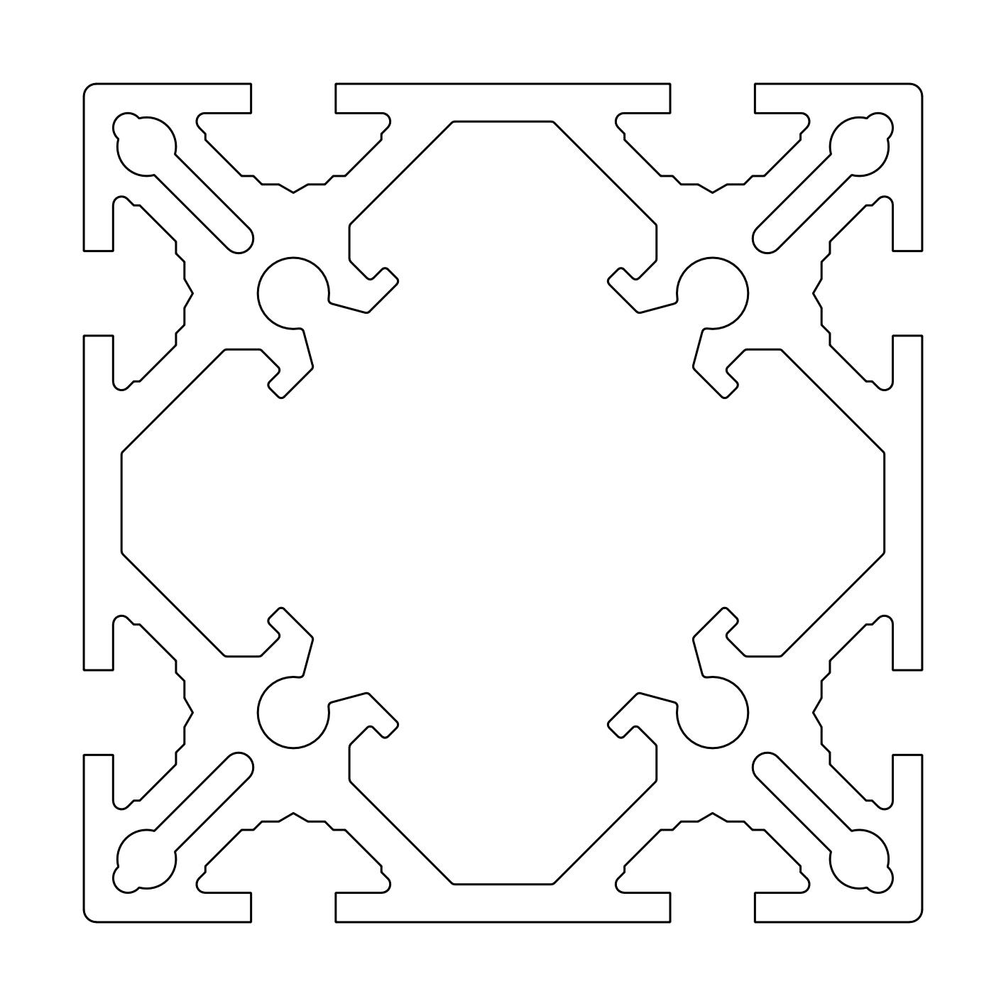 TECO Alu Profil System 100x100S