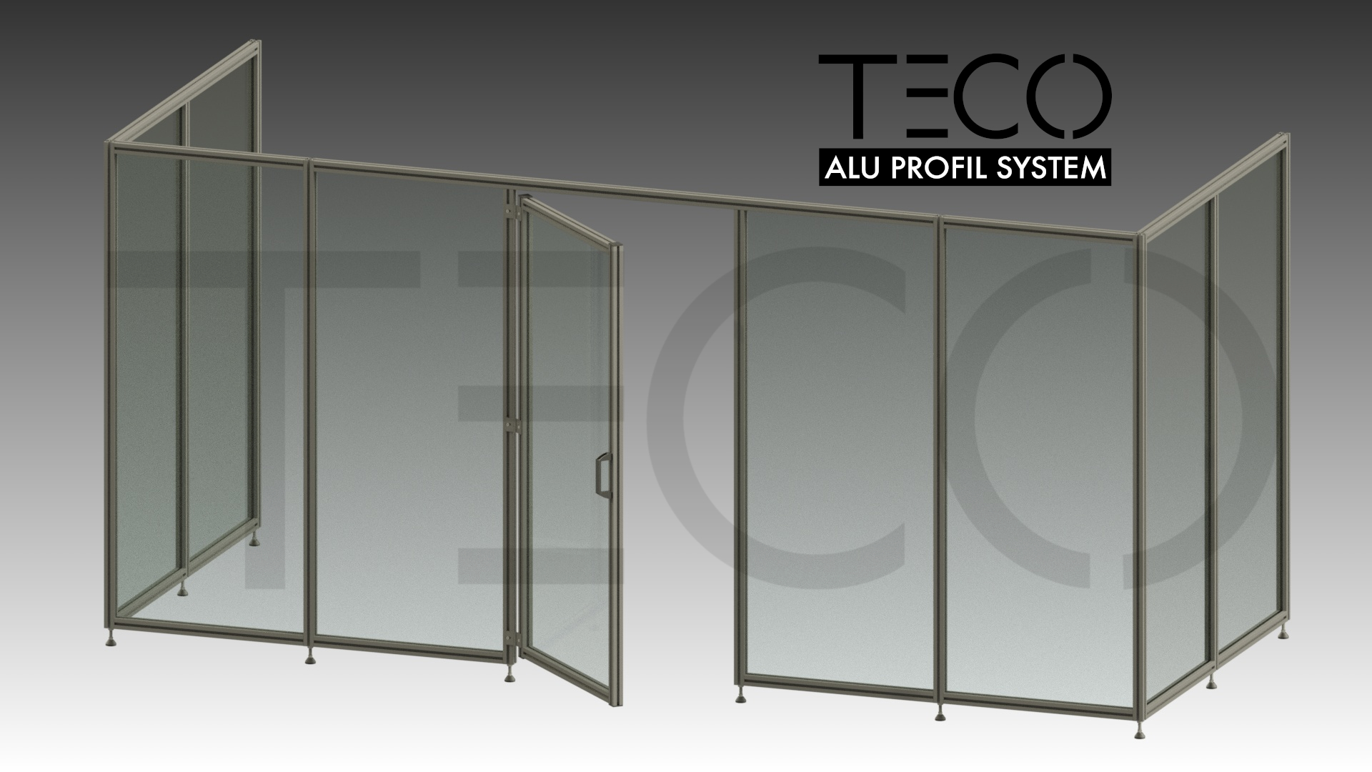 TECO Alu Profil System Schutzzaunelemente
